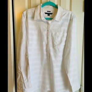 Tommy Hilfiger White Popover Shirt-size XL